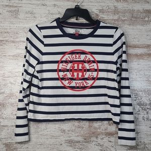 Women's Tommy Hilfiger NY striped cropped shirt L
